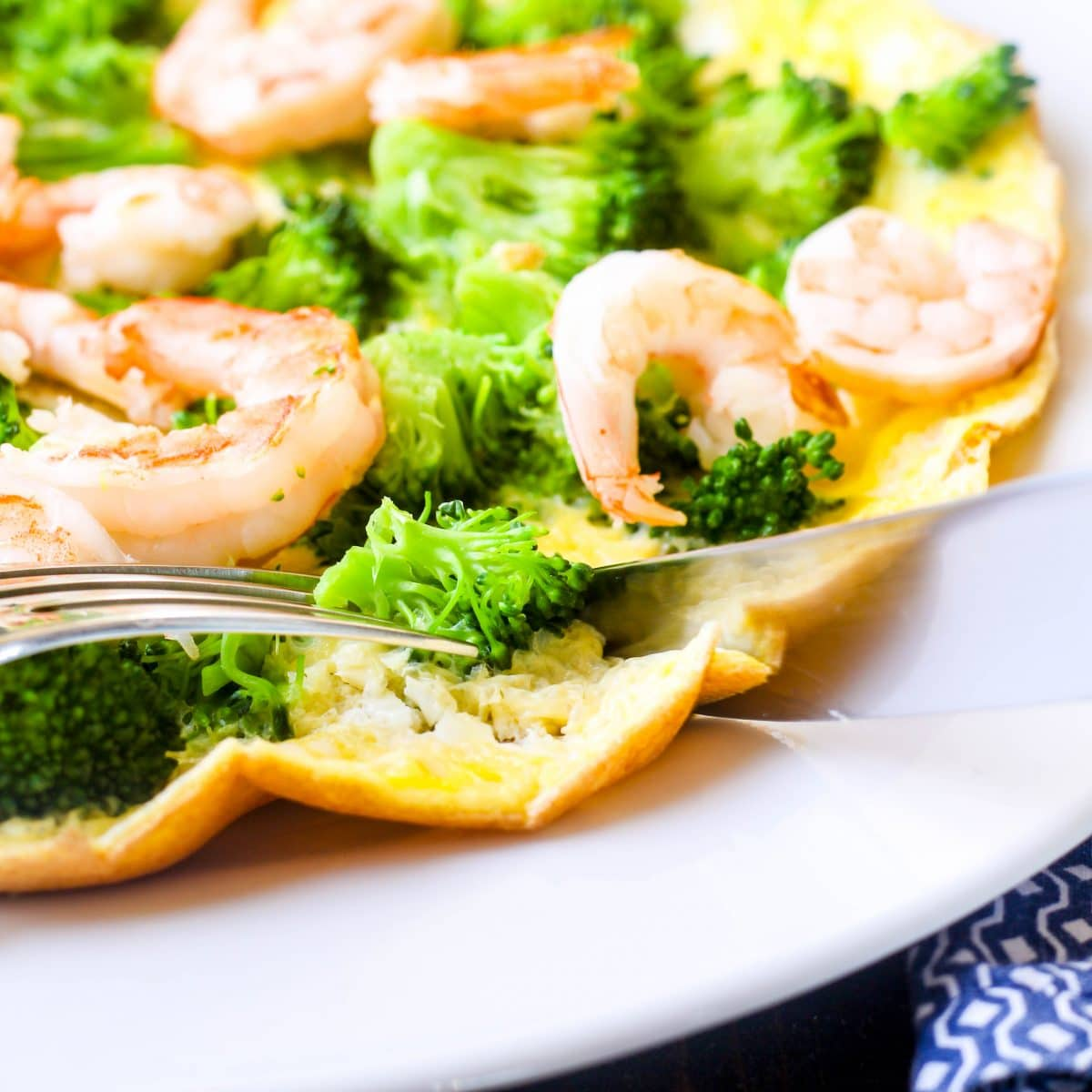Shrimp & Broccoli Omelet