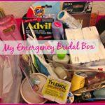 Wedding Recap:  The Emergency Bridal Box