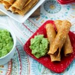 Oven Fried Chicken Taquitos