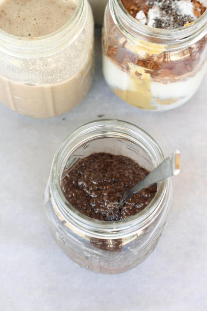 Dark Chocolate Sunbutter Chia Pudding