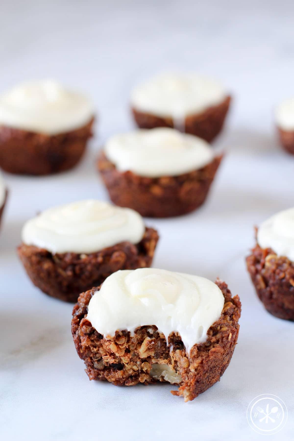 Carrot Cake Quinoa Oat Muffins