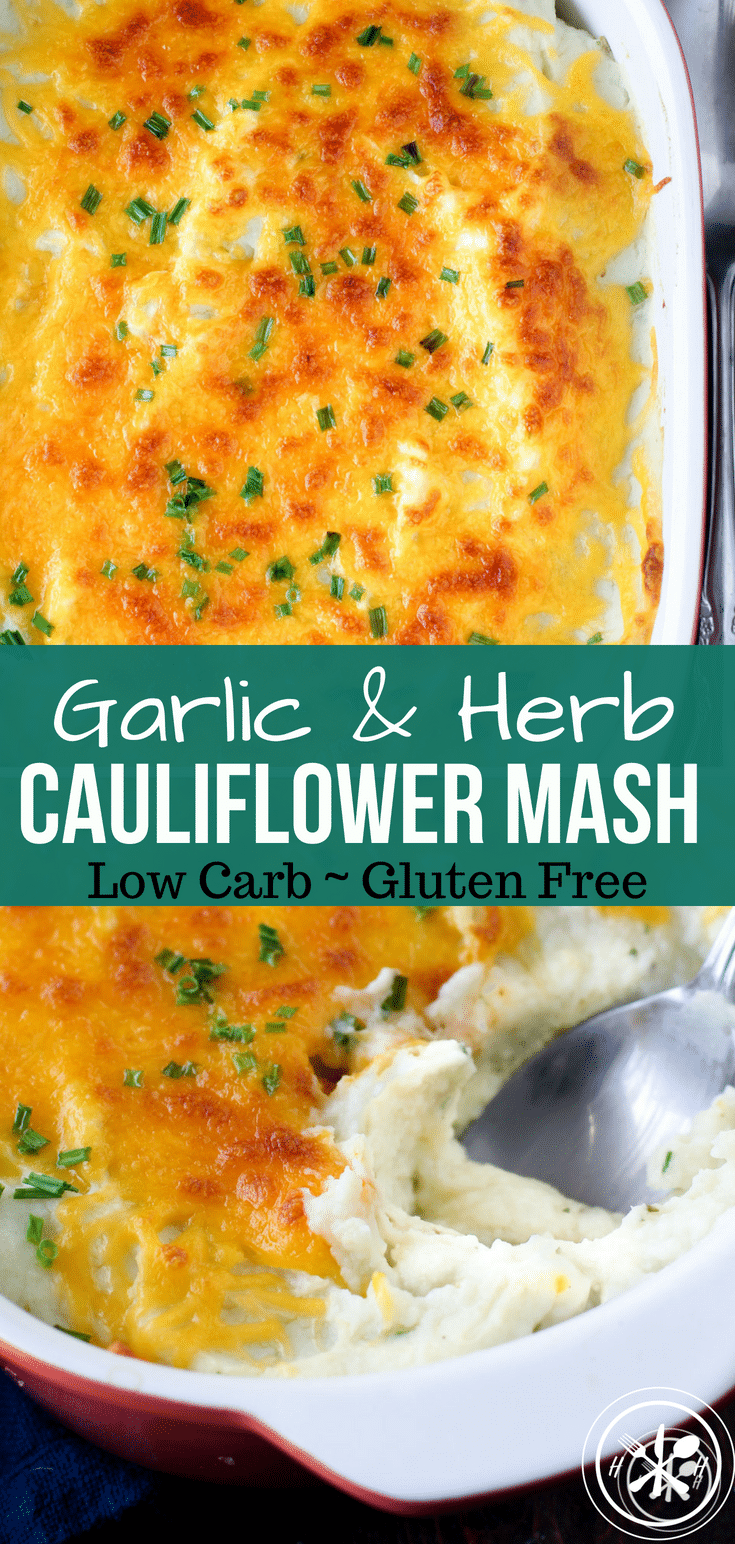 An easy way to get in more veggies!  Try whipping up a batch of these mashed cauliflower