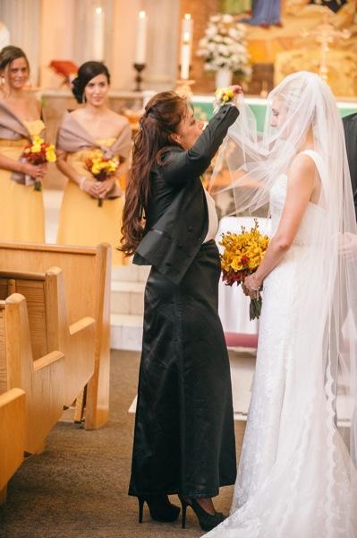 Mom and veil