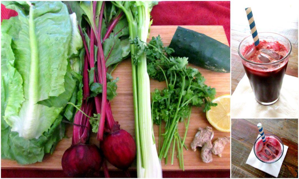 beet juice collage