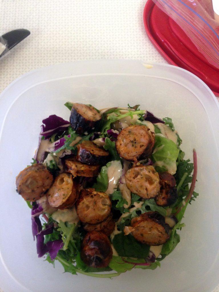 chicken sausage salad