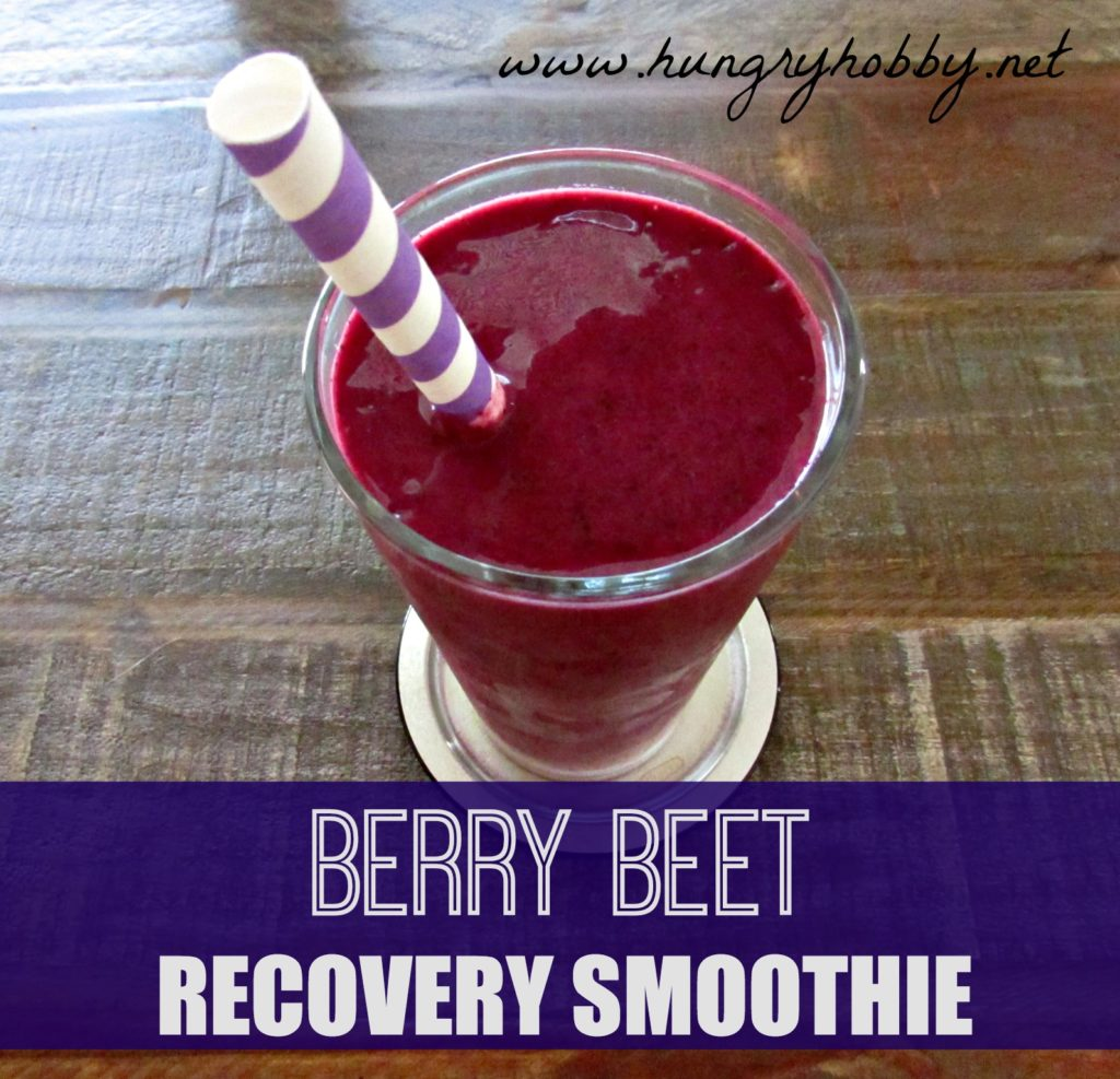 Berry Beet Recovery Smoothie www.hungryhobby.net