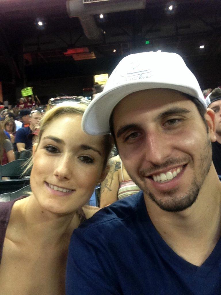 Kelli & Paul at game