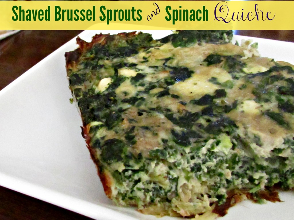 Shaved Brussel Sprouts and Spinach Quiche - Hungry Hobby .jpg