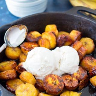 bourbon sweet plantains a la mode