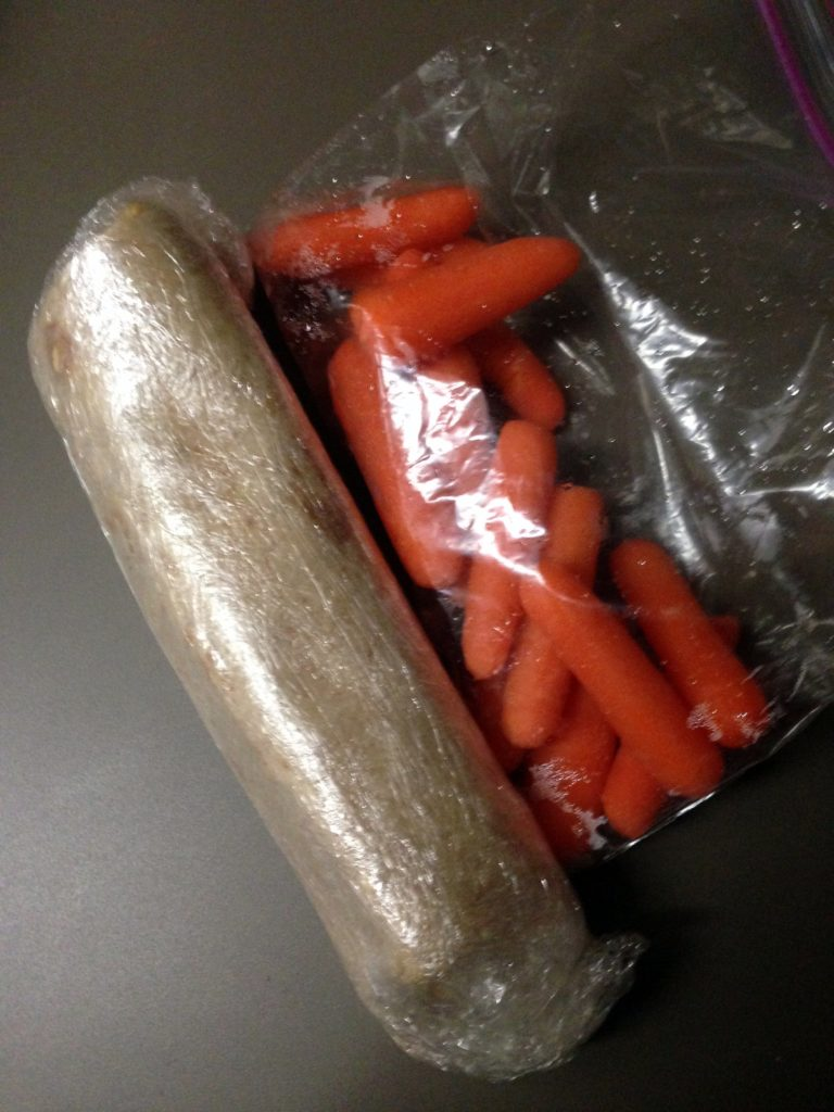 carrots and burrito