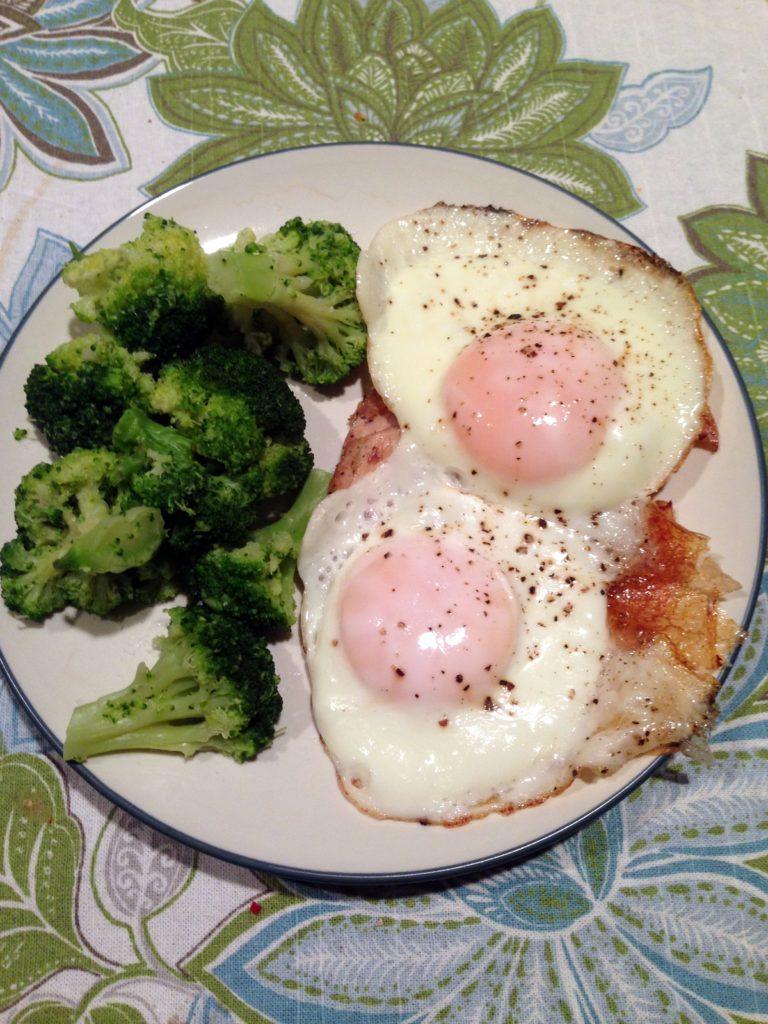 eggs, chicken, broccoli