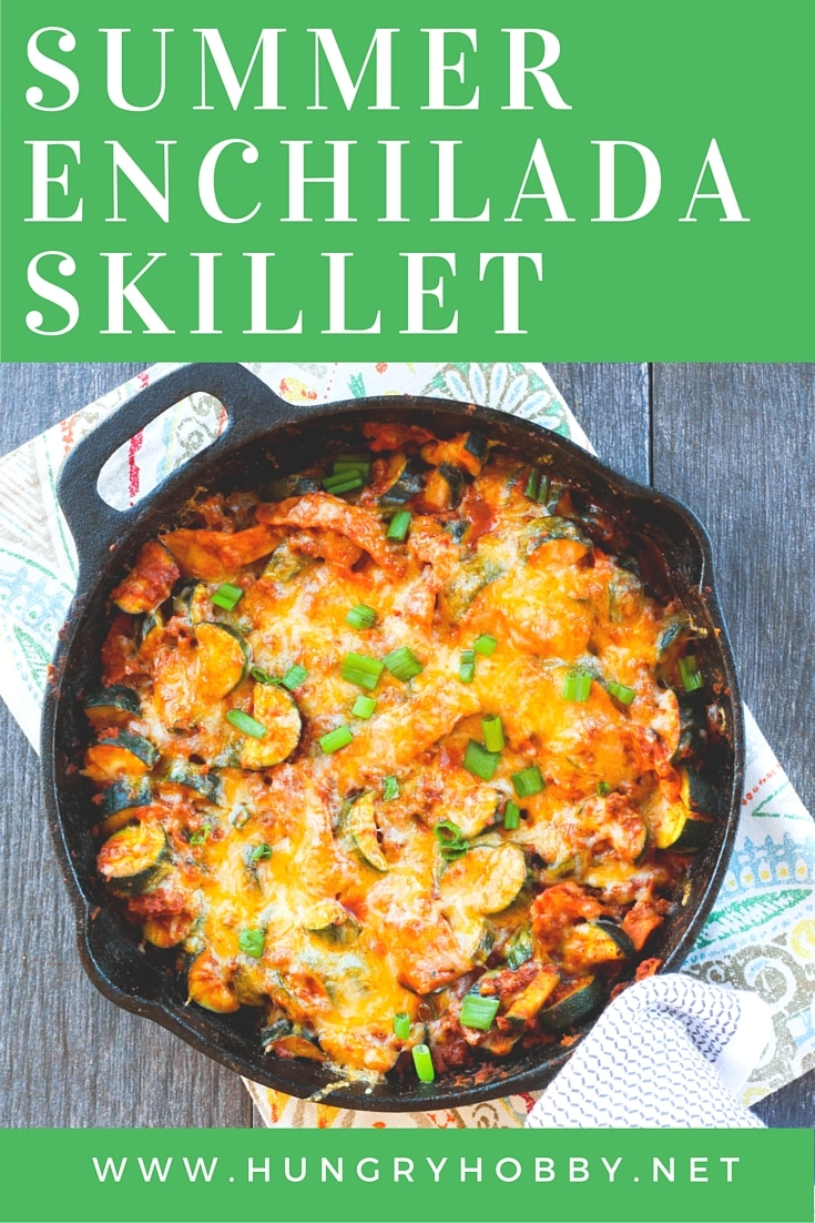 20 Minute Summer Enchilada Skillet - One pan for a quick and easy dinner win that everyone is sure to love!  Low carb and healthy