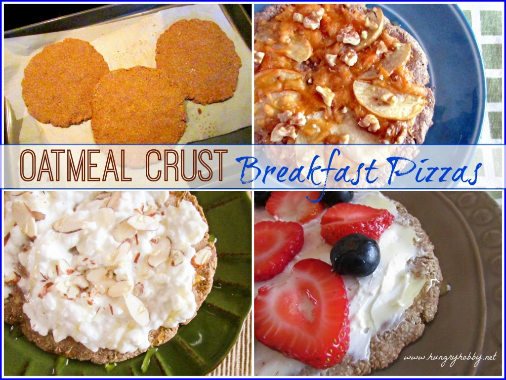Oatmeal Crust Breakfast Pizzas www.hungryhobby.net