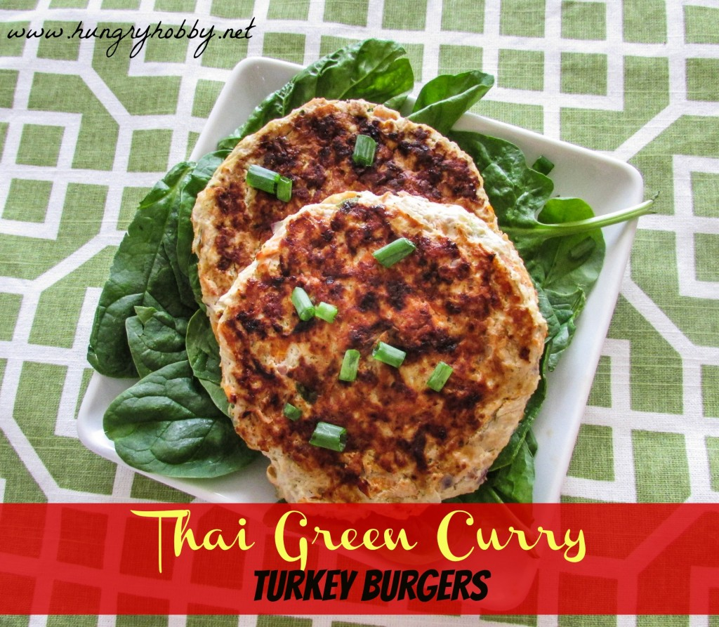 Thai Green Curry Turkey Burgers www.hungryhobby.net