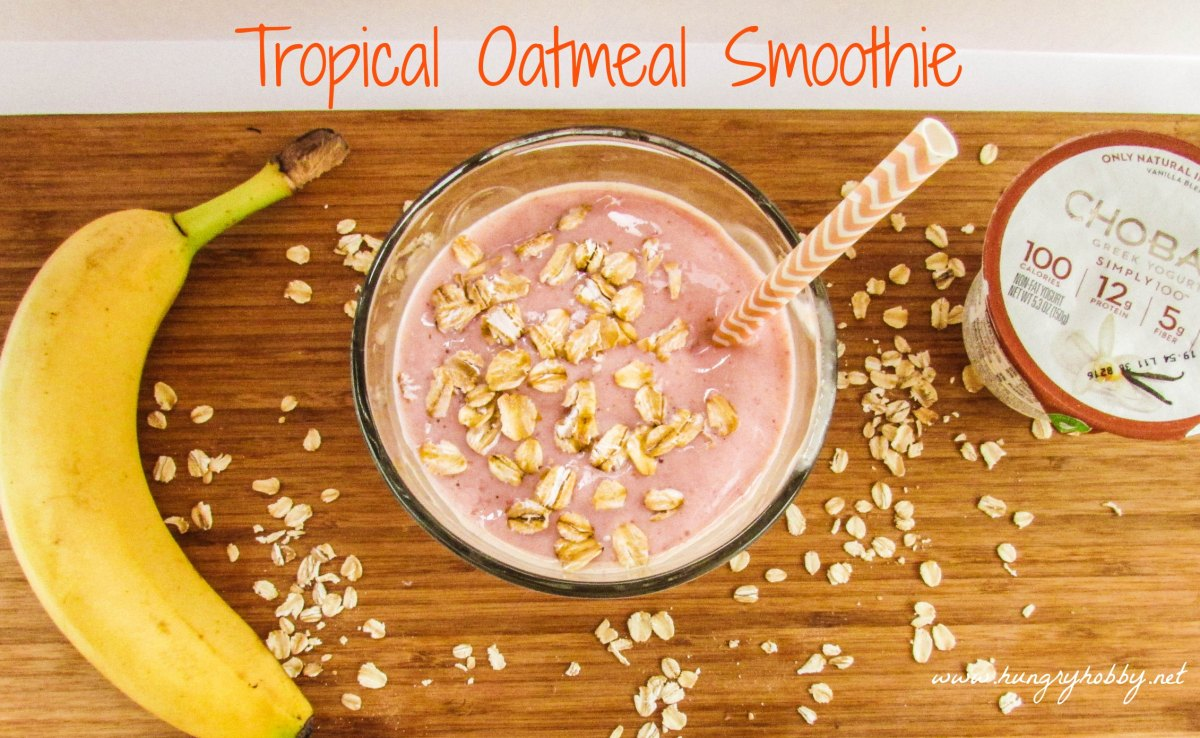 tropical oatmeal smoothie