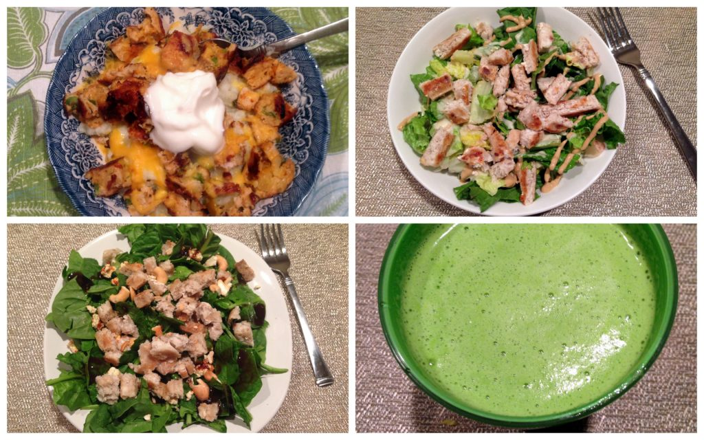 dinner collage
