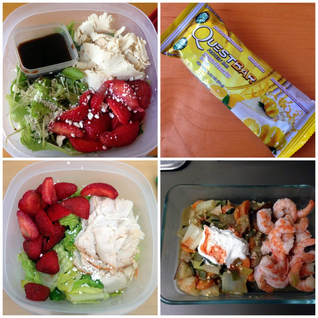 lunch collage