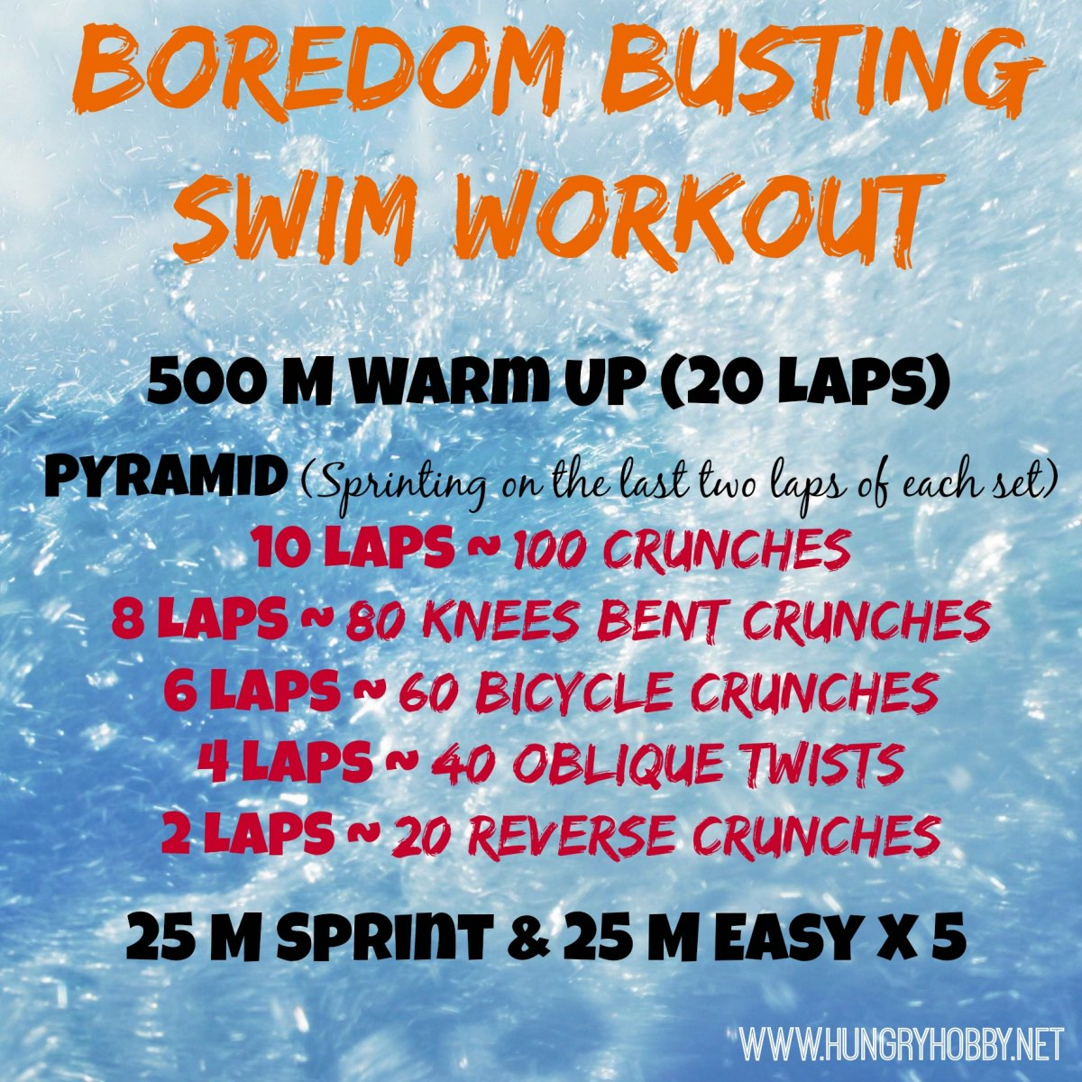 Boredom Busting Swim Workout Hungry Hobby