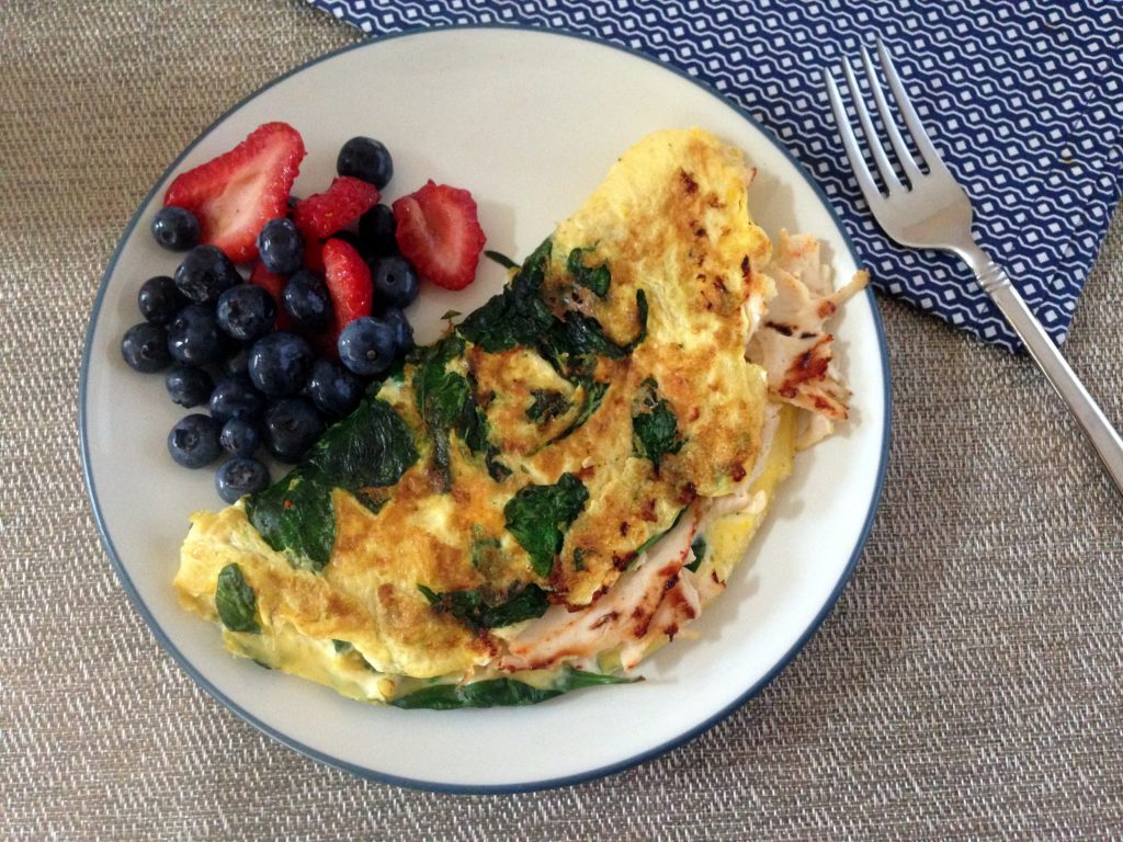 deli-chicken- spinach- omelet