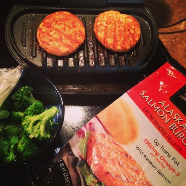 My favorite old kitchen gadget the george foreman hungry hobby i george foreman salmon burgers ccuart Gallery