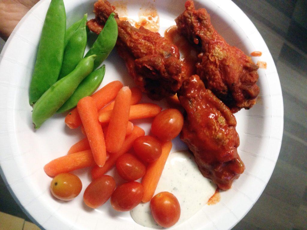 wings-veggies