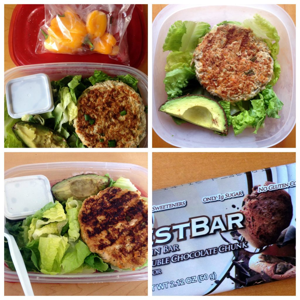 Lunch-collage-turkey-burger-thai-green-curry-quest-bar