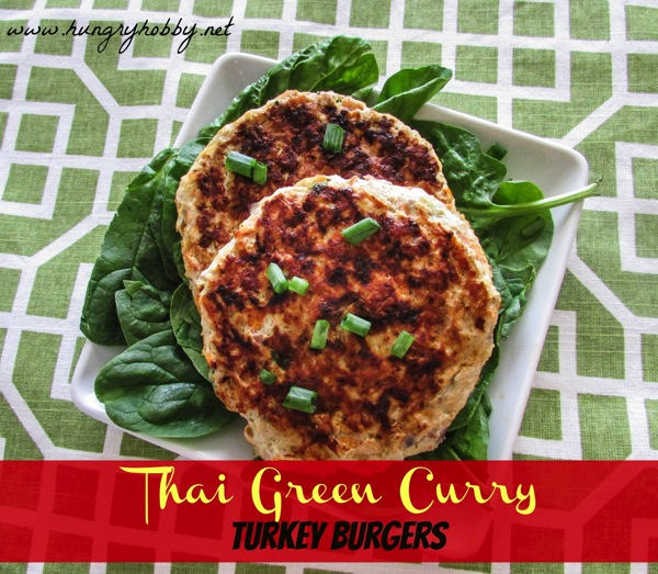 Thai Green Curry Turkey Burgers www hungryhobby net
