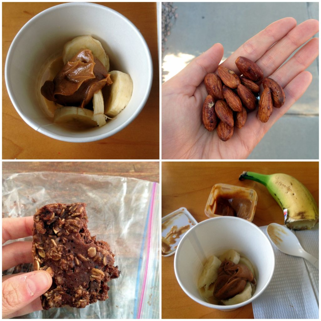 snack-collage-almonds-pb-banana-protein-bar