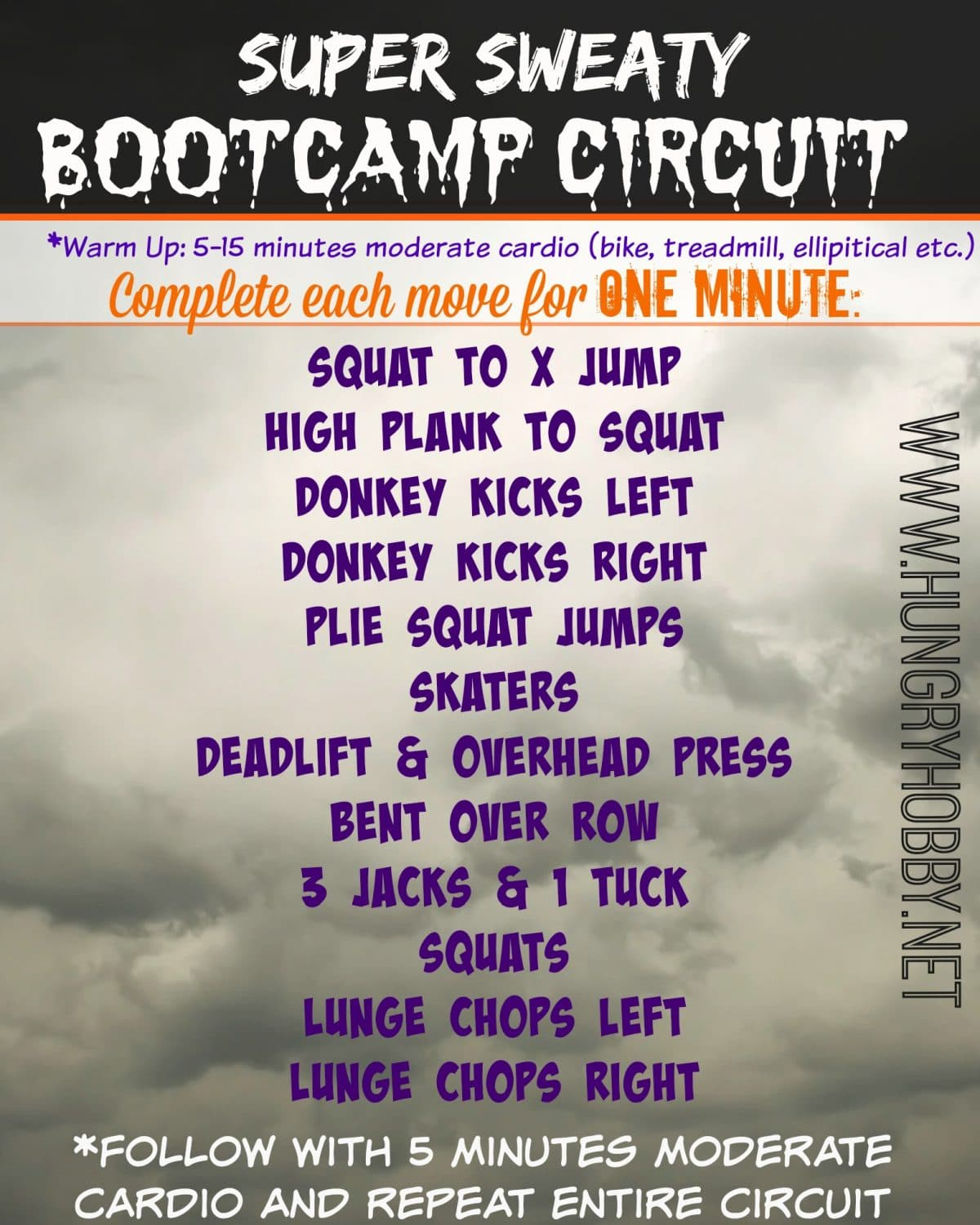 Super Sweaty Bootcamp Workout - Hungry Hobby