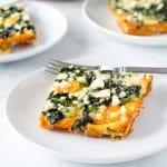 Sweet potato spinach quiche