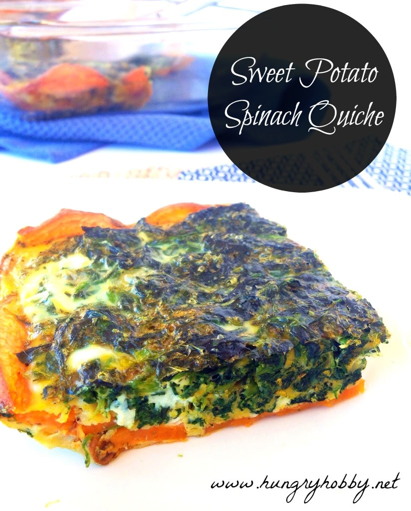 Sweet Potato Spinach Quiche www.hungryhobby.net