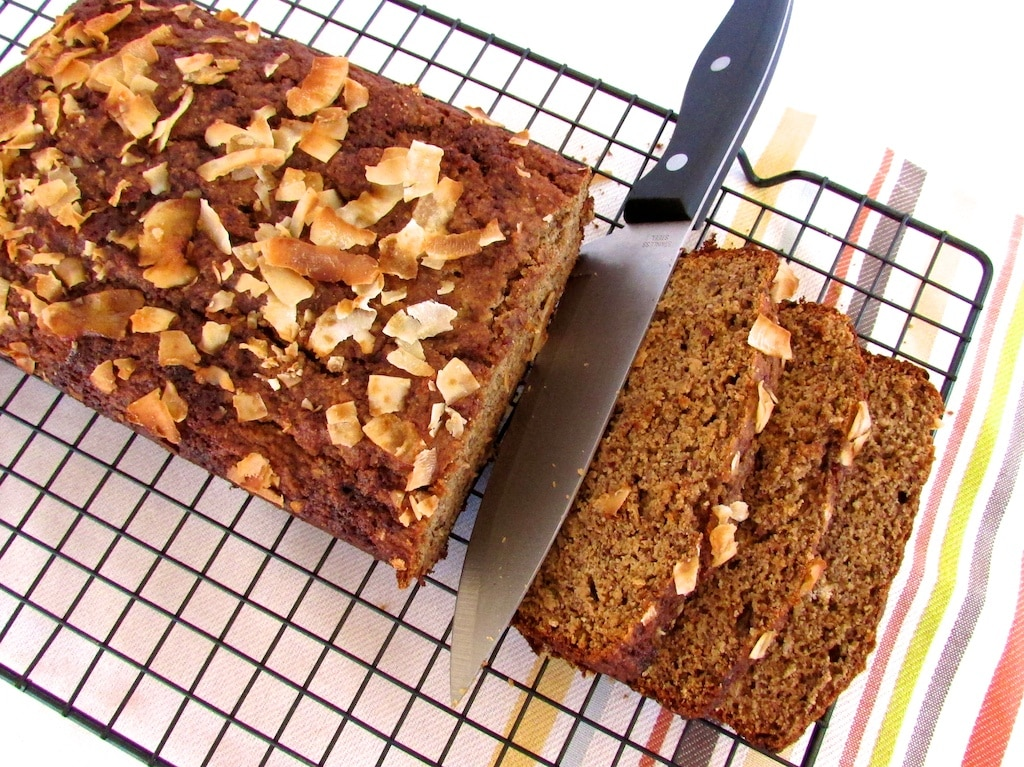 coconut almond banana bread-2
