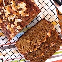 coconut almond banana bread original 001