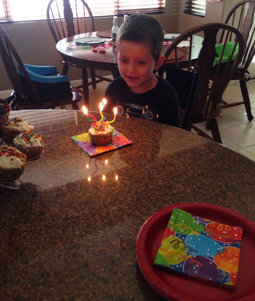E and cupcake