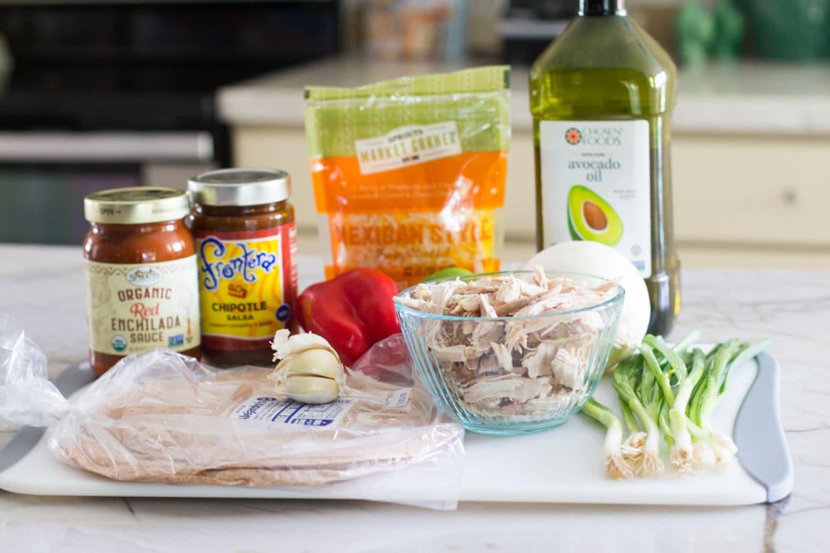 healthy turkey enchilada ingredients