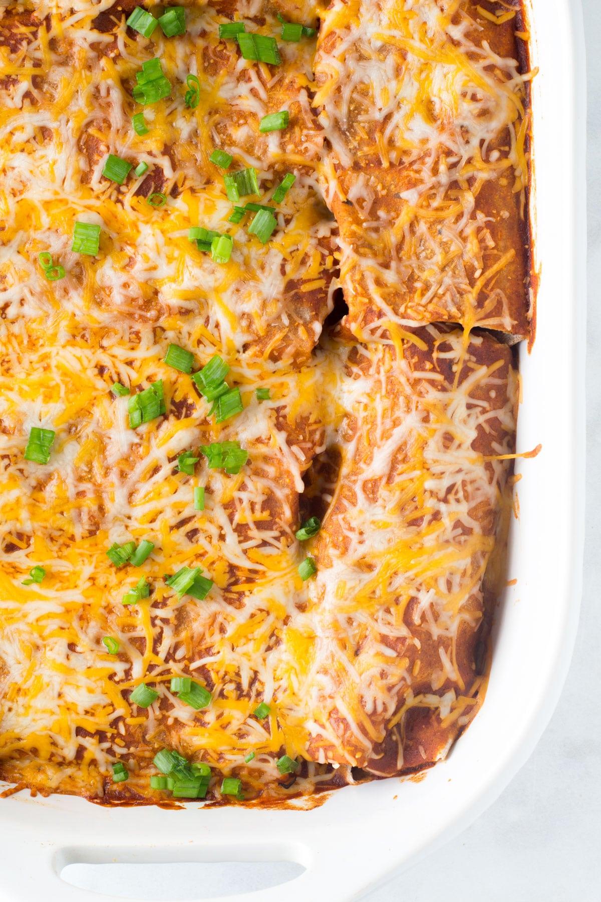 healthy leftover turkey enchiladas
