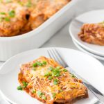 healthy leftover turkey enchiladas
