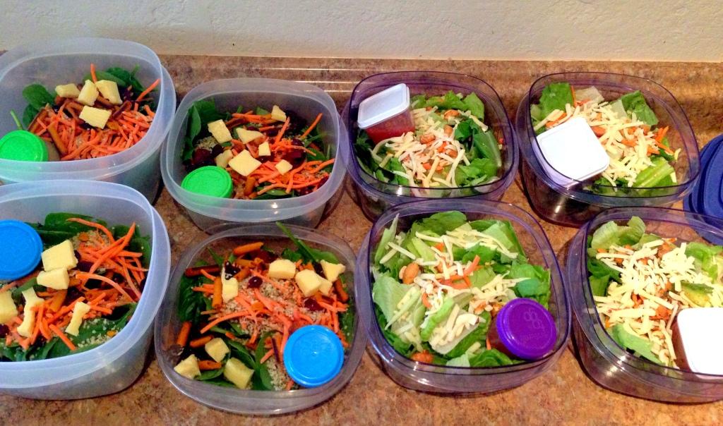 salads prepped