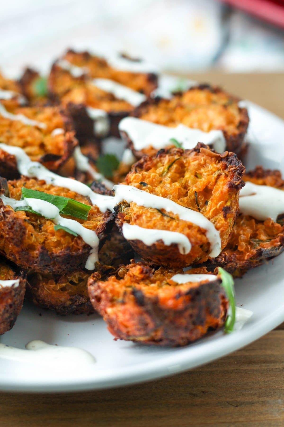 Buffalo Cheddar Quinoa Bites