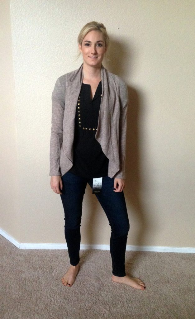 cardigan and shirt