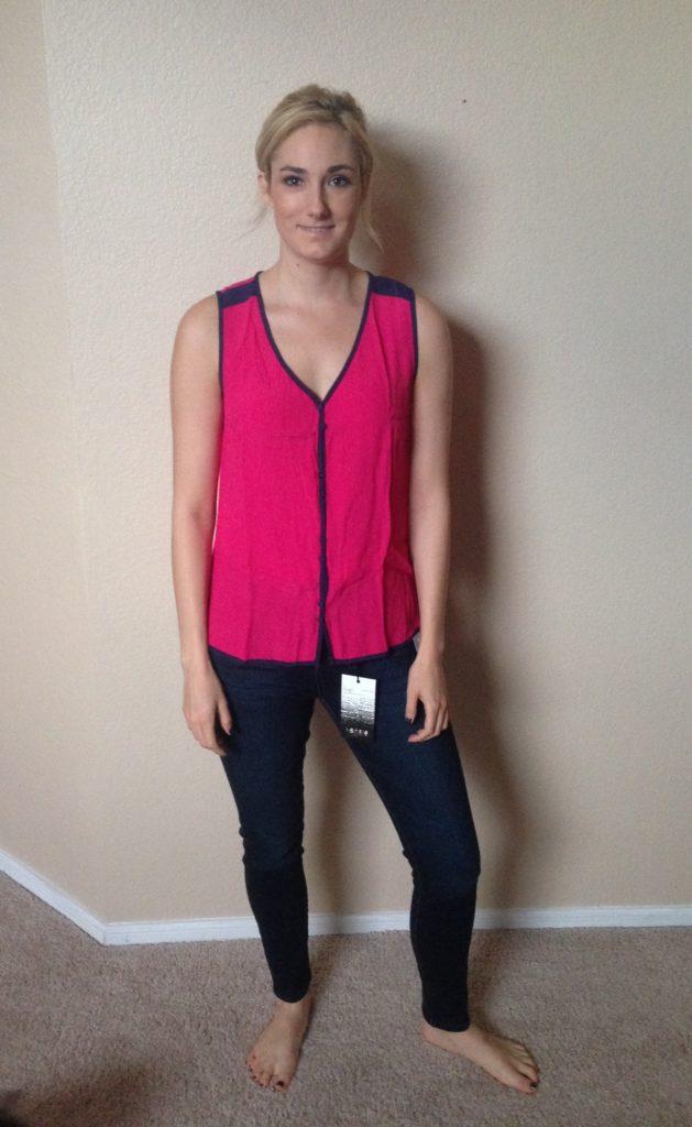 trim button clutster blouse
