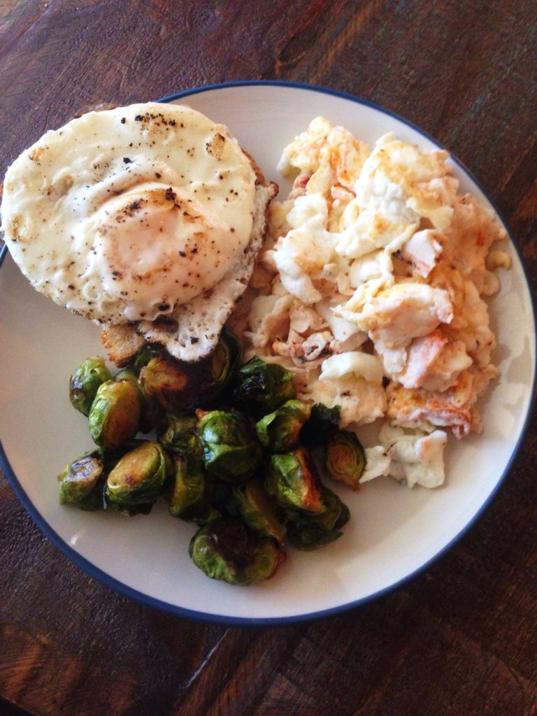 eggs and brussels lunch
