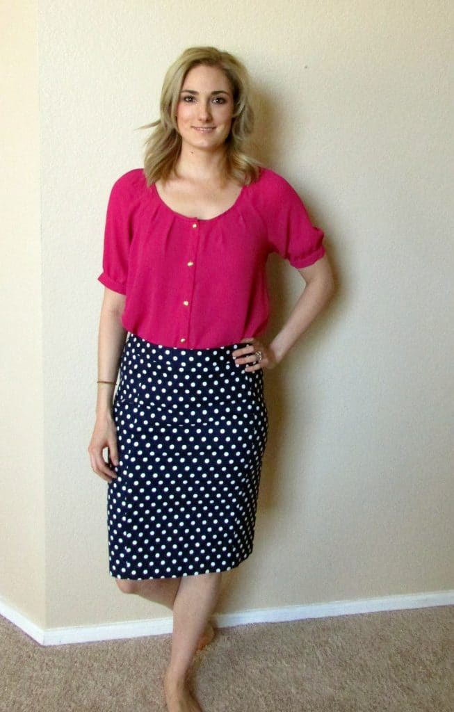 poka dot skirt