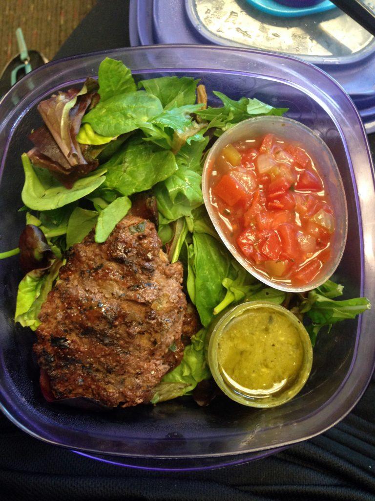 bison burger salad