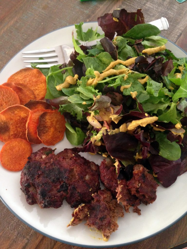 bison-salad-sweet potato