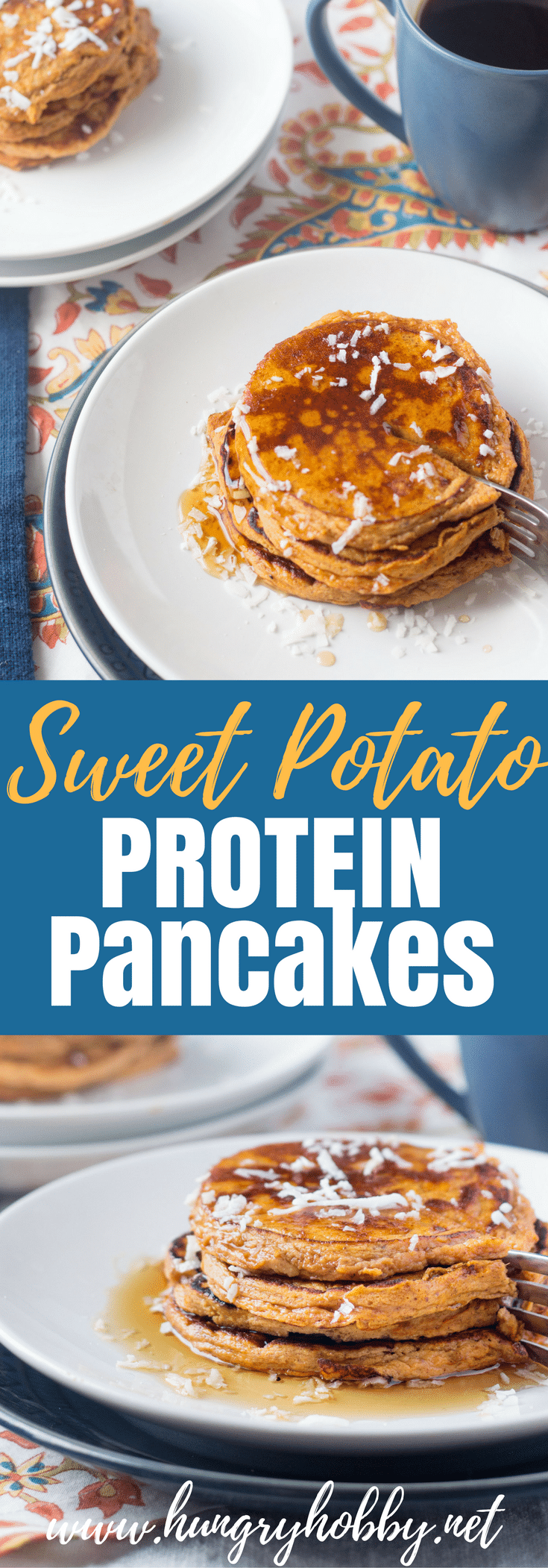 For all the sweet potato lovers out there these Sweet Potato Protein Pancakes are AMAZING and gluten free!