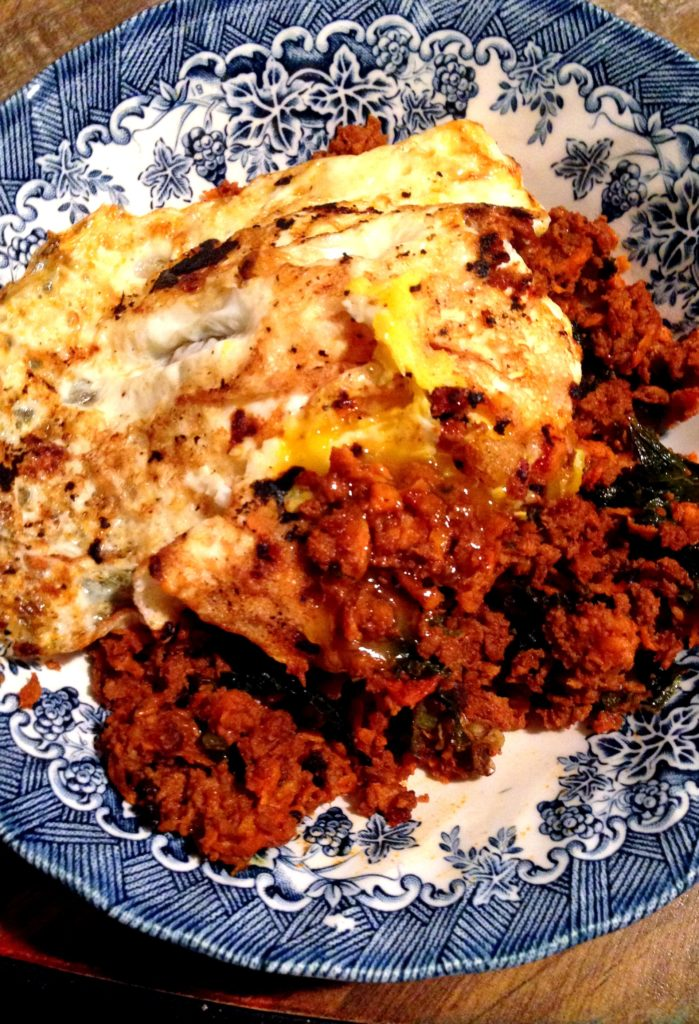 chorizo and egg