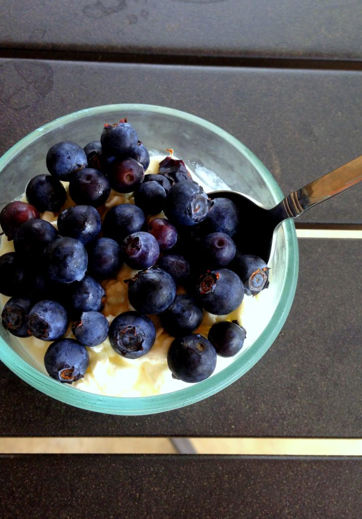 cottage cheese & blueberries
