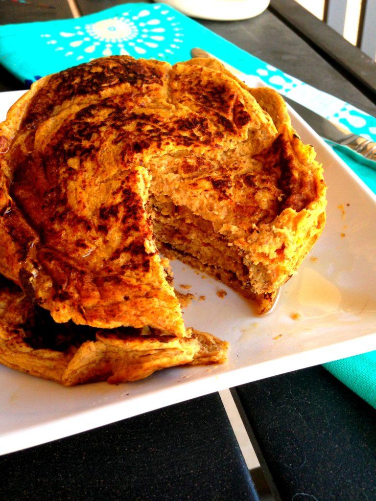 sweet potato pancakes missing bite