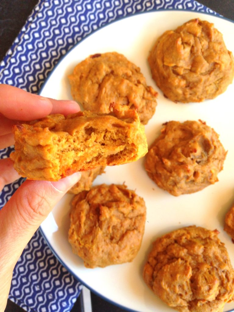 sweet potato protein cookies bite